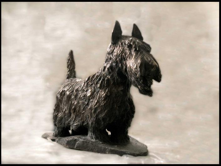 Terrier i bronse